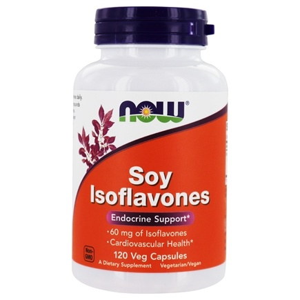 NOW Foods - Soy Isoflavones 60 mg. - 120 Vegetarian Capsules