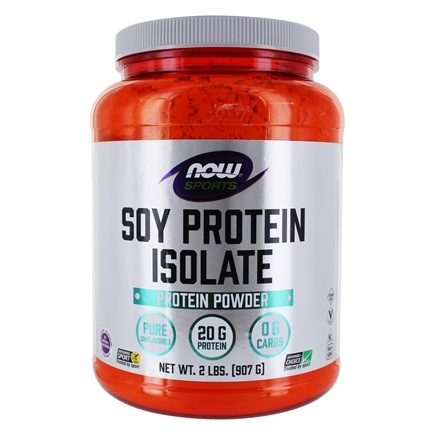 NOW Foods - Soy Protein Isolate Non-GMO Unflavored - 2 lbs.