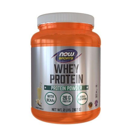 DROPPED: NOW Foods - Whey Protein with Glutamine Vanilla - 2 lbs.