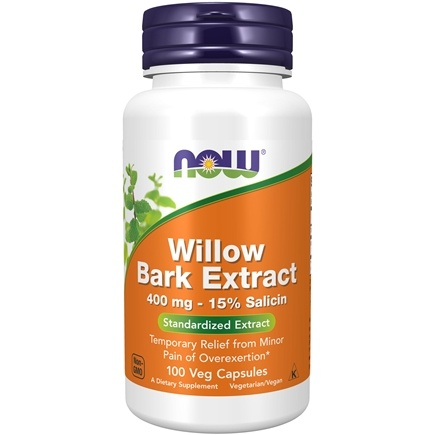 NOW Foods - White Willow Bark 400 mg. - 100 Capsules