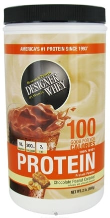 DROPPED: Designer Protein - Designer Whey 100% Whey Protein Powder Chocolate Peanut Caramel - 2 lbs.