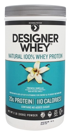 Designer Protein - Designer Whey Natural 100% Whey-Based Protein Powder French Vanilla - 2 lbs.