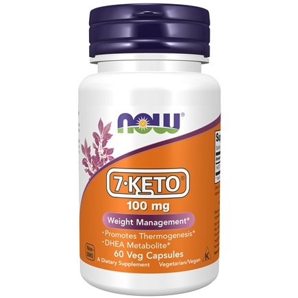 NOW Foods - 7-Keto 100 mg. - 60 Vegetarian Capsules