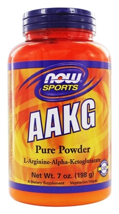 NOW Foods - AAKG Powder 100% Pure Unflavored - 7 oz.