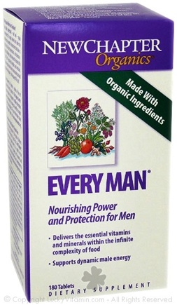 DROPPED: New Chapter - Every Man SPECIALLY PRICED - 180 Tablets