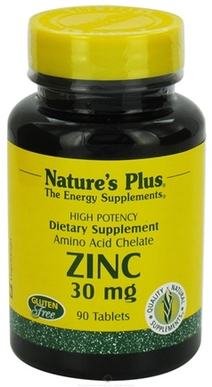 DROPPED: Nature's Plus - Zinc 30 mg. - 90 Tablets