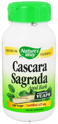DROPPED: Nature's Way - Cascara Sagrada Bark - 100 Vegetarian Capsules CLEARANCE PRICED