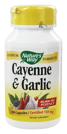 Nature's Way - Cayenne & Garlic 530 mg. - 100 Capsules