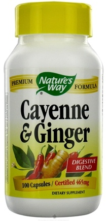 DROPPED: Nature's Way - Cayenne & Ginger 465 mg. - 100 Capsules