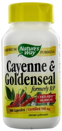 DROPPED: Nature's Way - Cayenne & Goldensal 500 mg. - 100 Capsules
