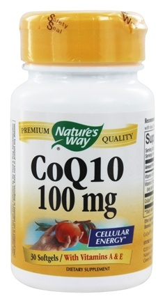 Nature's Way - CoQ10 100 mg. - 30 Softgels