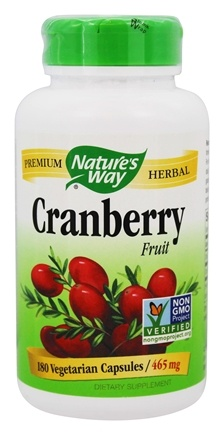Nature's Way - Cranberry Fruit 465 mg. - 180 Vegetarian Capsules