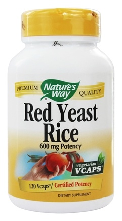 Nature's Way - Red Yeast Rice 600 mg. - 120 Vegetarian Capsules