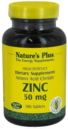 DROPPED: Nature's Plus - Zinc 50 mg. - 180 Tablets