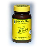 DROPPED: Nature's Plus - Zinc Di-Picolinate Complex - 60 Tablets