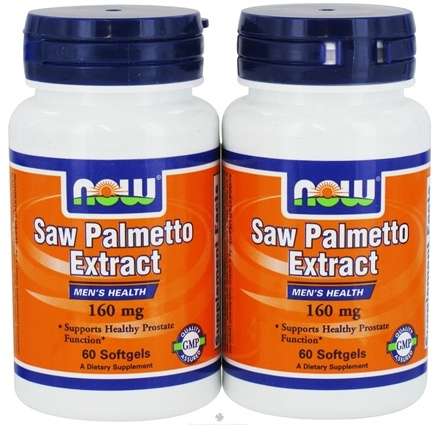 DROPPED: NOW Foods - Saw Palmetto (60+60) Twin Pack Special 160 mg. - 120 Softgels
