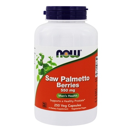 NOW Foods - Saw Palmetto Berries Men's Health 550 mg. - 250 Capsules
