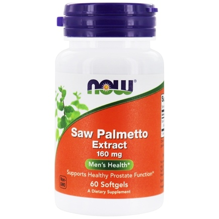 NOW Foods - Saw Palmetto Double Strength 160 mg. - 60 Softgels