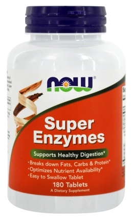 NOW Foods - Super Enzymes - 180 Tablets