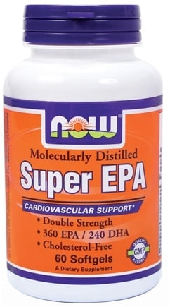DROPPED: NOW Foods - Super EPA Double Strength - 60 Softgels CLEARANCE PRICED