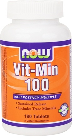 DROPPED: NOW Foods - Vit-Min 100 Timed Release Multiple Vitamin - 180 Tablets