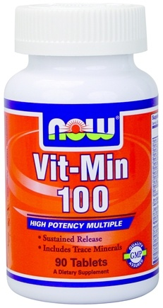 DROPPED: NOW Foods - Vit-Min 100, Timed Release Multiple Vitamin - 90 Tablets