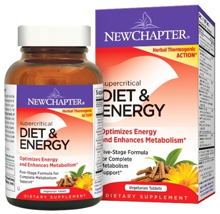 New Chapter - Supercritical Diet & Energy - 60 Vegetarian Capsules