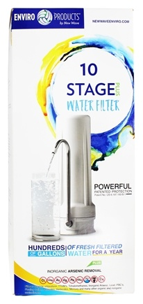 New Wave Enviro Products - 10 Stage Countertop Water Filter System