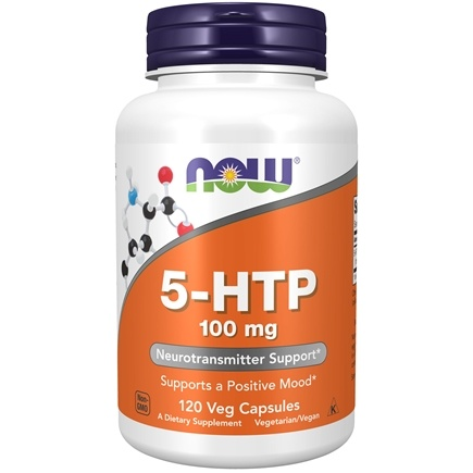 NOW Foods - 5-HTP 100 mg. - 120 Vegetarian Capsules