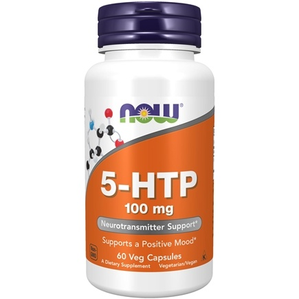 NOW Foods - 5-HTP 100 mg. - 60 Vegetarian Capsules