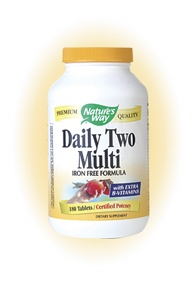 DROPPED: Nature's Way - Daily Two Multi (iron-free)