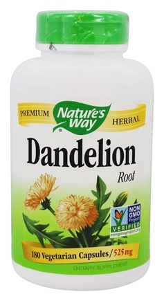Nature's Way - Dandelion Root 540 mg. - 180 Vegetarian Capsules