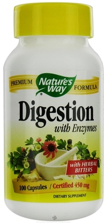 DROPPED: Nature's Way - Digestion With Enzymes 450 mg. - 100 Capsules