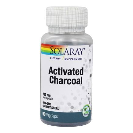 Solaray - Activated Charcoal 280 mg. - 90 Capsules