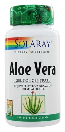 Solaray - Aloe Vera Gel Concentrate - 100 Capsules