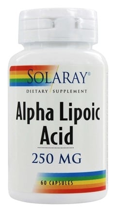 Solaray - Alpha Lipoic Acid 250 mg. - 60 Capsules
