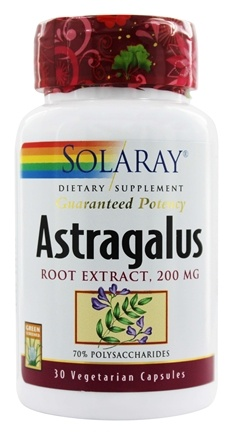 Solaray - Guaranteed Potency Astragalus Root Extract 200 mg. - 30 Capsules