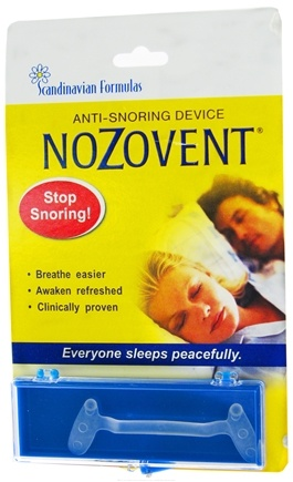 DROPPED: Scandinavian Formulas - Nozovent Anti-Snoring Device - 1 Box(s) formerly S.H. Nozovent Anti-Snore CLEARANCE PRICED