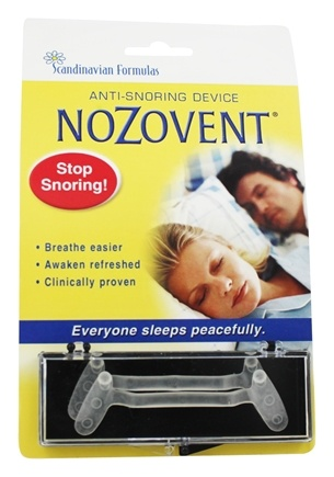 Scandinavian Formulas - Nozovent Anti Snoring Device - 2 Piece(s) formerly S.H. Nozovent Anti-Snore