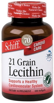 DROPPED: Schiff - 21 Grain Lecithin - 100 Softgels CLEARANCE PRICED