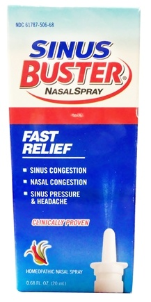 DROPPED: Buster Brands - Sinus Buster Nasal Spray - 0.68 oz. Formerly SiCap Industries