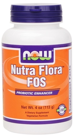 DROPPED: NOW Foods - Nutra Flora FOS, Vegetarian - 4 oz.