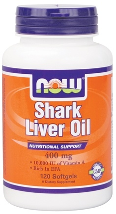 DROPPED: NOW Foods - Shark Liver Oil 10000 IU 400 mg - 120 Capsules CLEARANCE PRICED