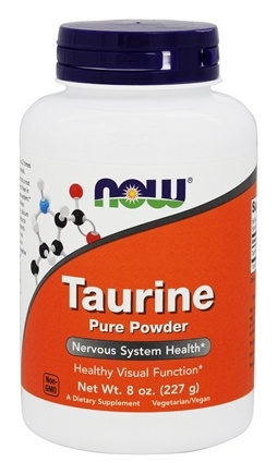 NOW Foods - Taurine Powder - 8 oz.