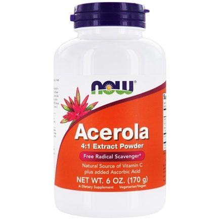 NOW Foods - Acerola Powder Antioxidant Protection - 6 oz.