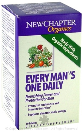 DROPPED: New Chapter - Every Man's One Daily SPECIALLY PRICED - 30 Tablets