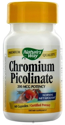 DROPPED: Nature's Way - Chromium Picolinate 200 mcg. - 60 Capsules CLEARANCE PRICED