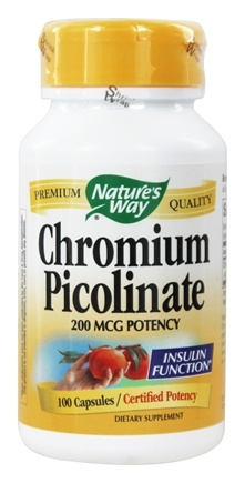 Nature's Way - Chromium Picolinate 200 mcg. - 100 Capsules