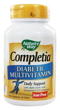 Nature's Way - Completia Diabetic (iron-free) Multi-Vitamin - 90 Tablets