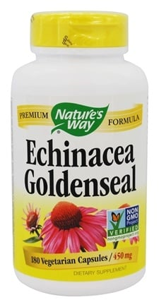 Nature's Way - Echinacea-Goldenseal (Certified Organic) 450 mg. - 180 Capsules